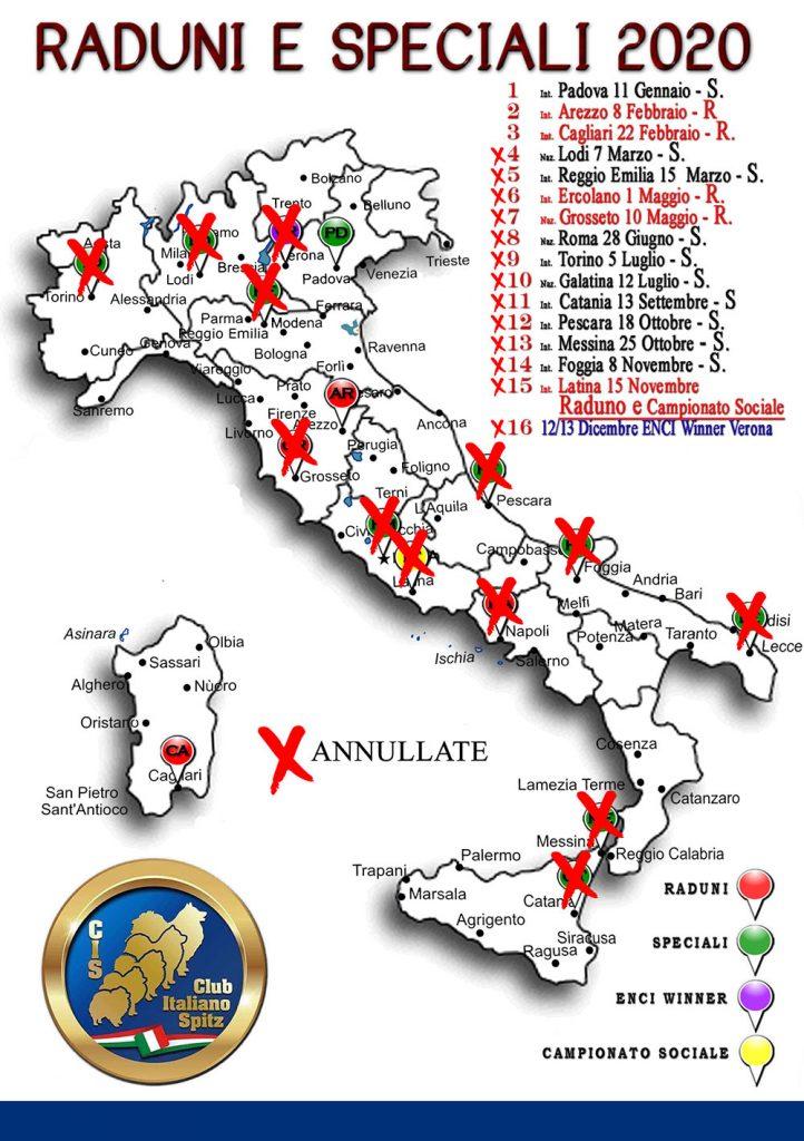 Geolocalizzazione calendario 2020